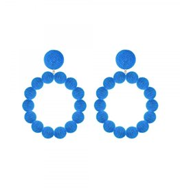 Blue Sardegna Hoop Earrings