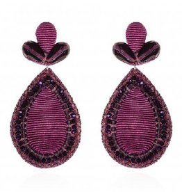 Plum Fushan Lights Teardrop Earrings