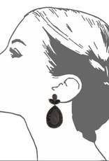 Plum Fushan Lights Teardrop Earrings