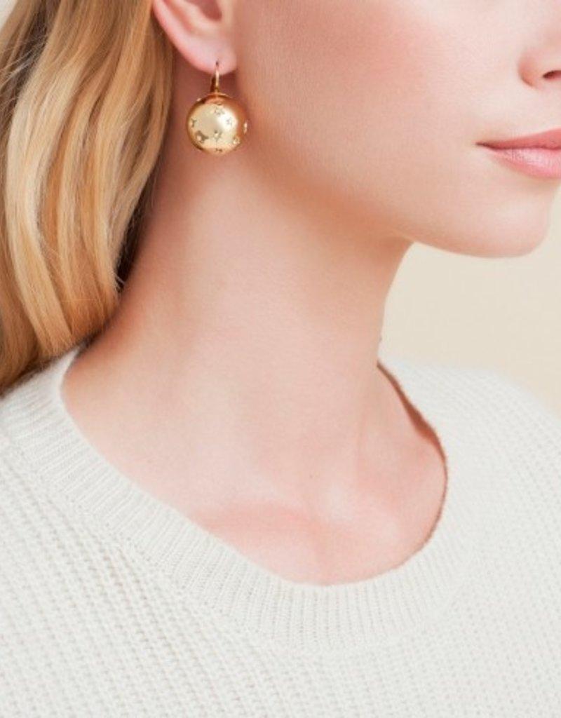 Gas Bijoux Comete Gold Ball Earring