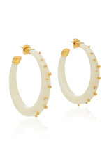 Gas Bijoux Gold and Ivory Creole Celeste Earrings