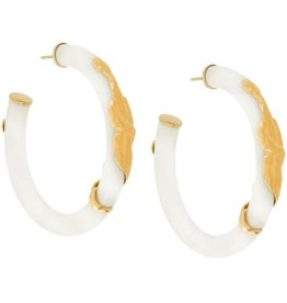 Gas Bijoux Ivory Cobra Earrings
