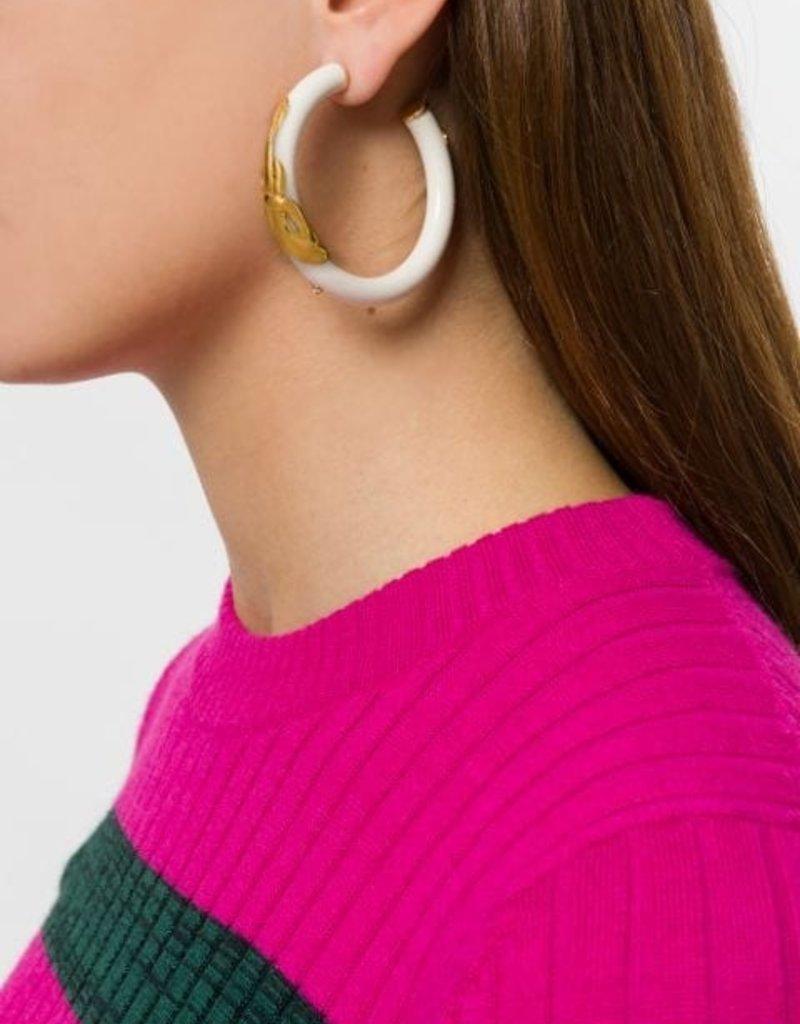 Gas Bijoux Ivory Cobra Earrings