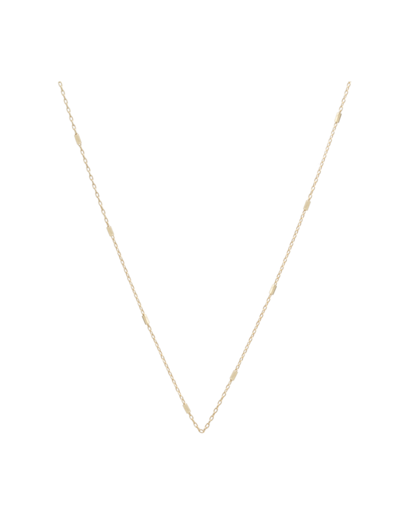 """Zoe Chicco 14KY  Tiny Bar Cable Chain Necklace 20"""""""