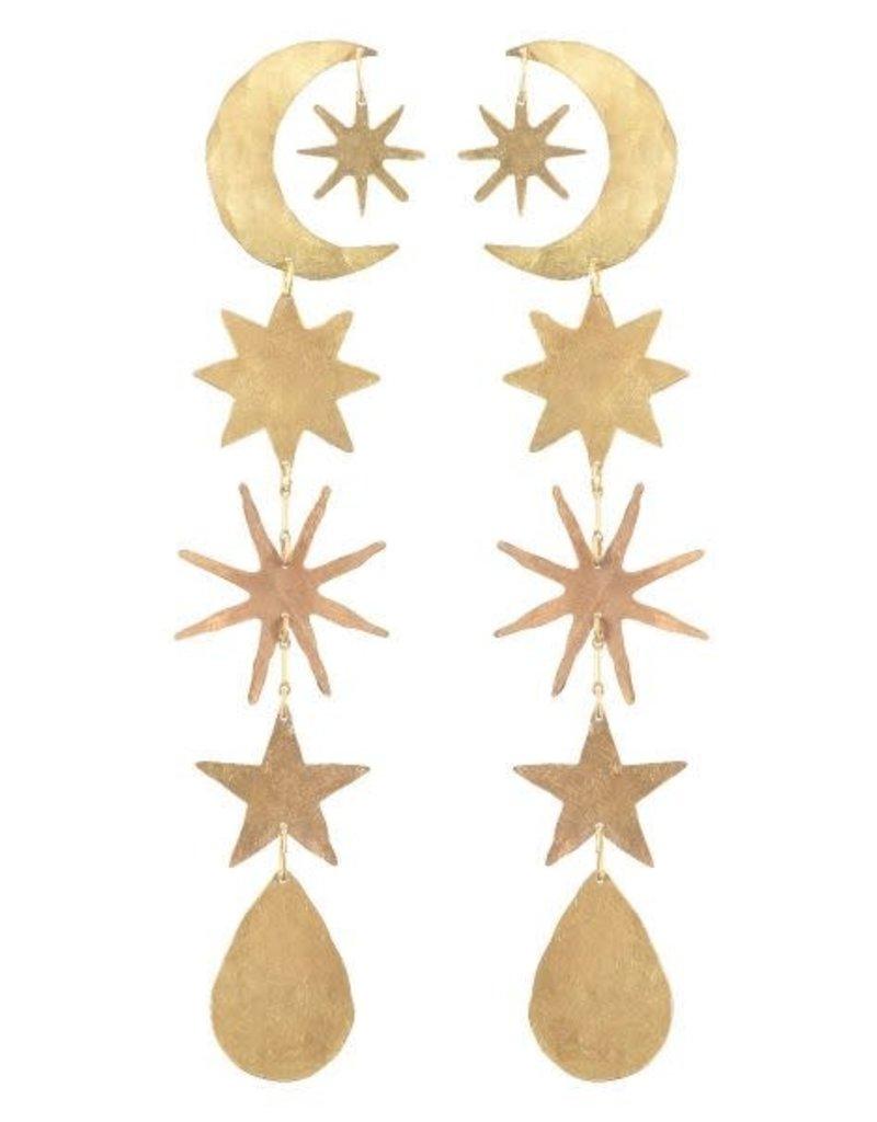 We Dream In Colour Gold Hour Magic Earrings