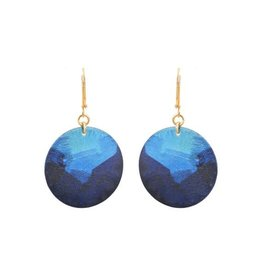 We Dream In Colour Little Lazuli Round Earrings
