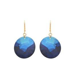 Little Lazuli Round Earrings