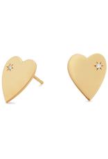 Lana Small Heart Diamond Stud Earrings