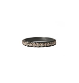 Old World Midnight Champagne Diamond Stack Ring