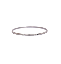 Armenta New World Silver Sapphire & Diamond Bangle