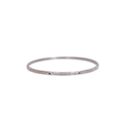 New World Silver Sapphire & Diamond Bangle
