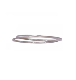 Armenta New World Silver Scattered Diamond Bangle