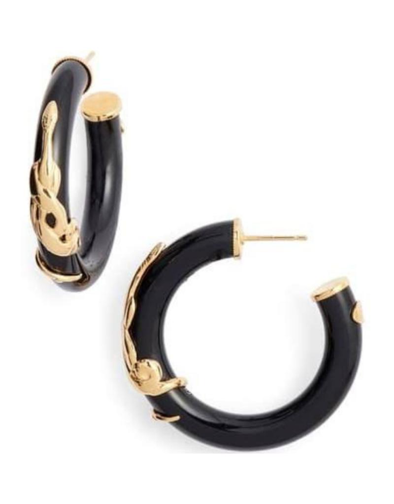 Gas Bijoux Black Cobra Earrings