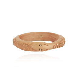 Gas Bijoux Uroborus Carved Wood Bangle