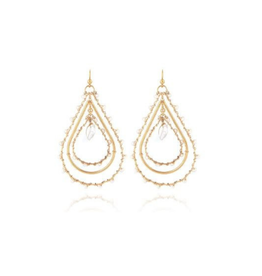 Gas Bijoux Orphee Gold Pearl Teardrop Earring