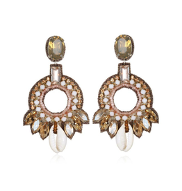 Quintana Roo Hoop Earrings- Champagne/Blush