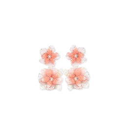 Oaxaca Flower Drop Earrings-Blush/Ivory