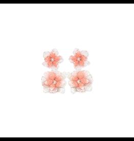 Oaxaca Flower Drop Earrings-Blush/Ivory