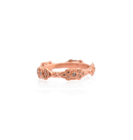 Armenta Sueno Rose Gold Diamond Scroll Ring