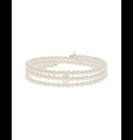 Mizuki 14K  Coiled Akoya Pearl Bracelet