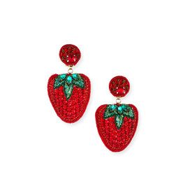 Ranjana Khan Les Fraises Beaded Earrings