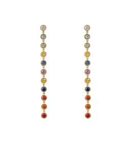 Liven 14-Karat Rainbow Sapphire Earrings