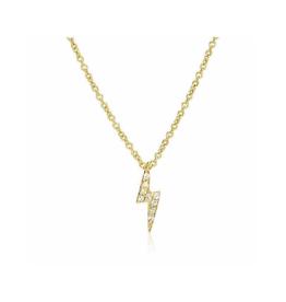 Liven 14-Karat Small Lightning Bolt Necklace