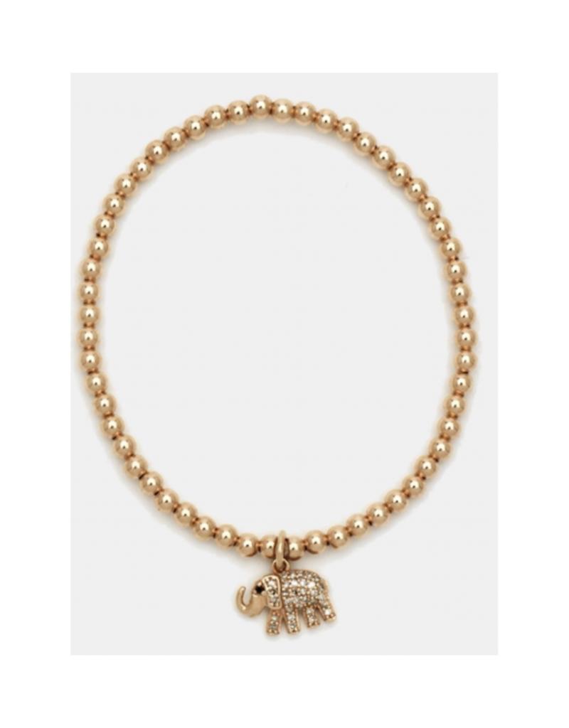 Karen Lazar Design Yellow Gold Elephant Charm Bracelet