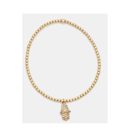 Karen Lazar Design rose hamsa charm bracelet