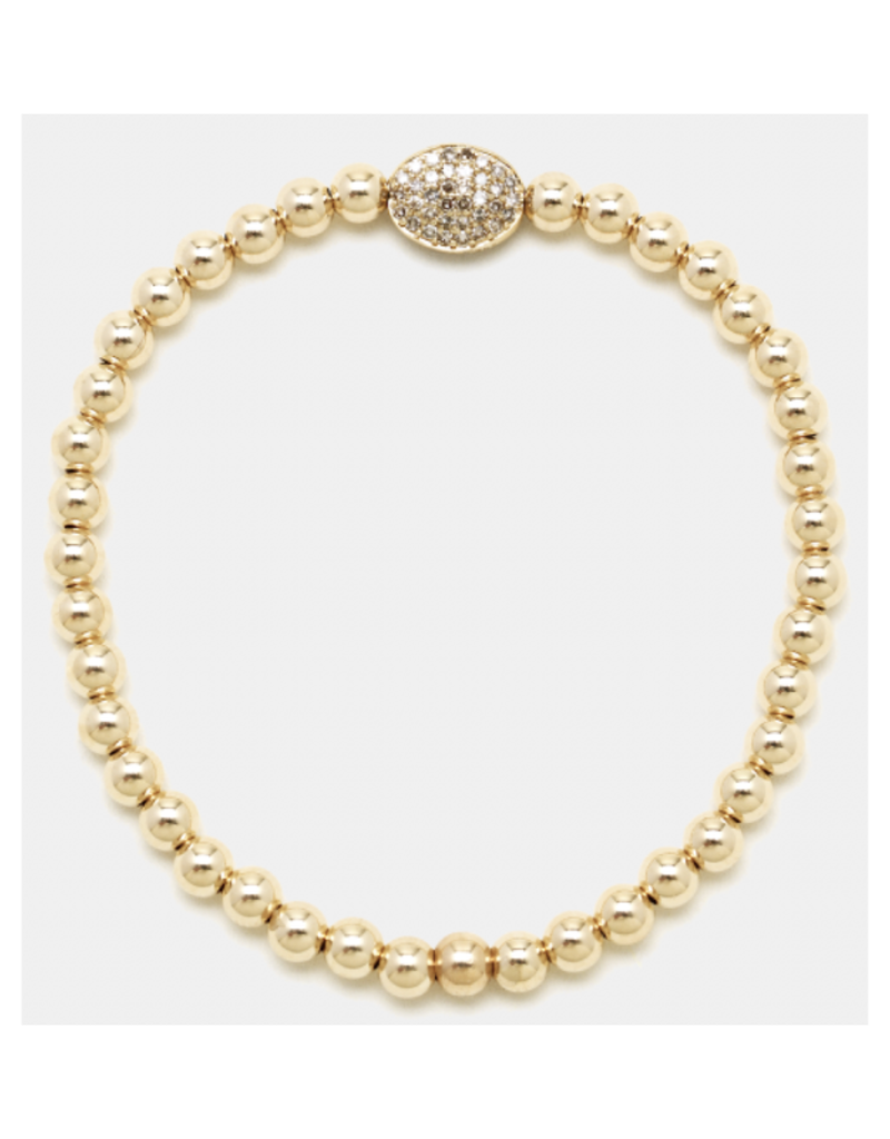 Karen Lazar Design Yellow Gold Diamond Bean Bracelet