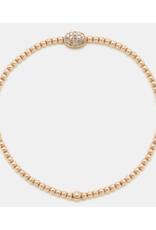 Karen Lazar Design Rose Diamond Bean Bracelet