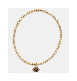 Karen Lazar Design Yellow Gold Evil Eye Charm Bracelet