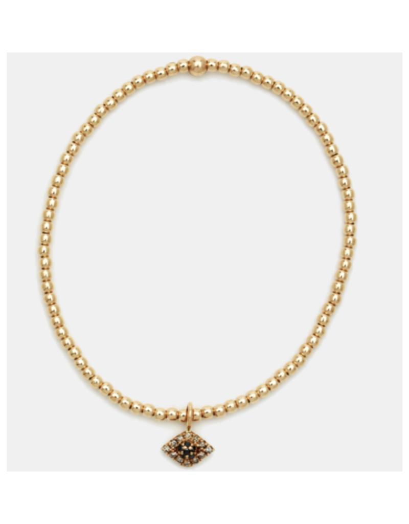 Karen Lazar Design Rose Gold Evil Eye Charm Bracelet