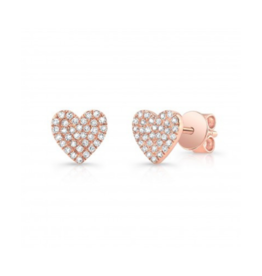 14KR Diamond Heart Stud Single