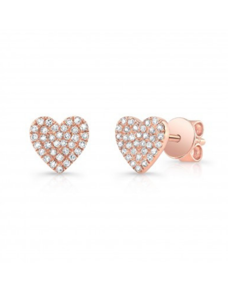 14KR Diamond Heart Stud Single