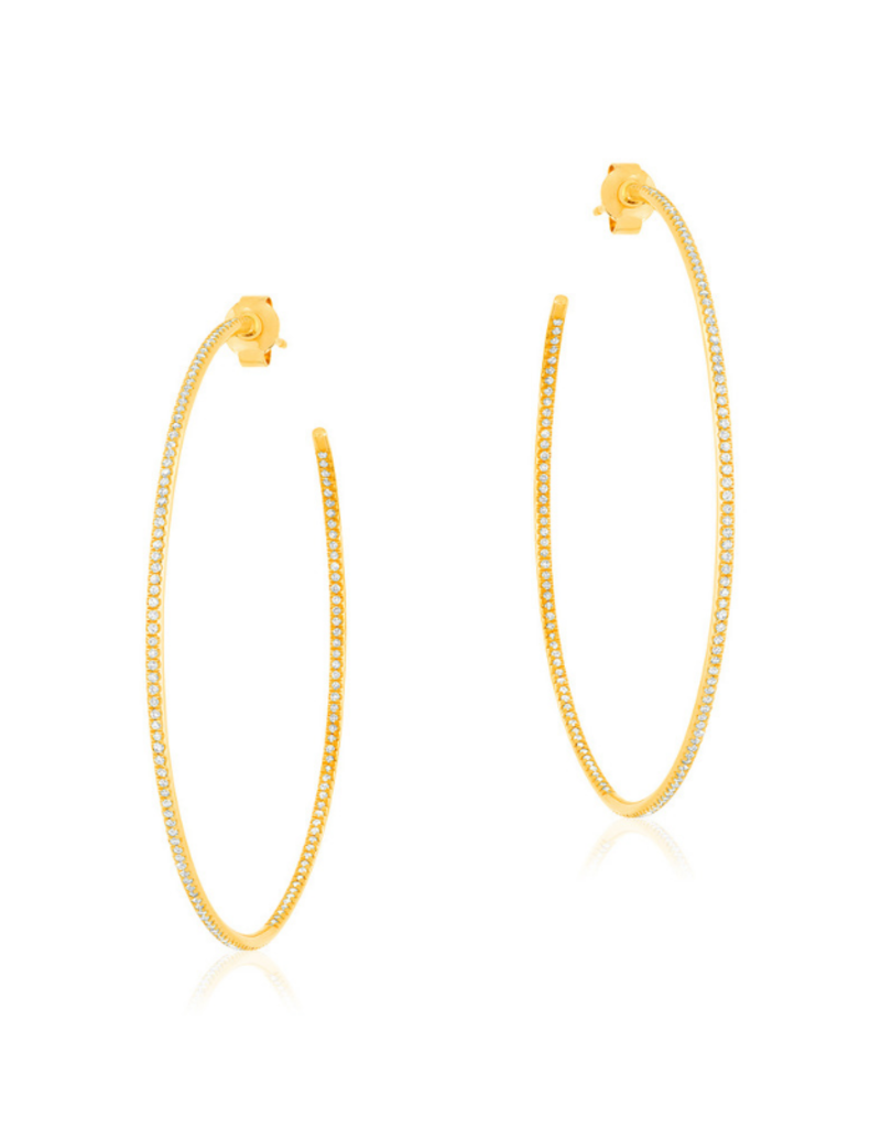 Liven Yellow Gold In and Out Hoop