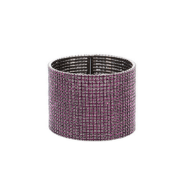 Theia Purple & Gunmetal Bangle