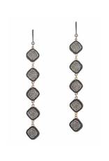 Theia  Gun Metal Chain Earrings