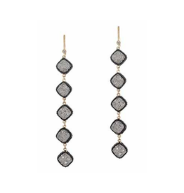 Theia Black Gold Chain Earrings