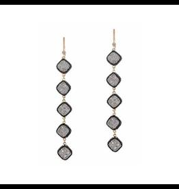 Theia Black Gold Chain Earrings