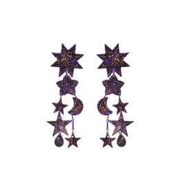 We Dream In Colour Gilded Colibri Earrings