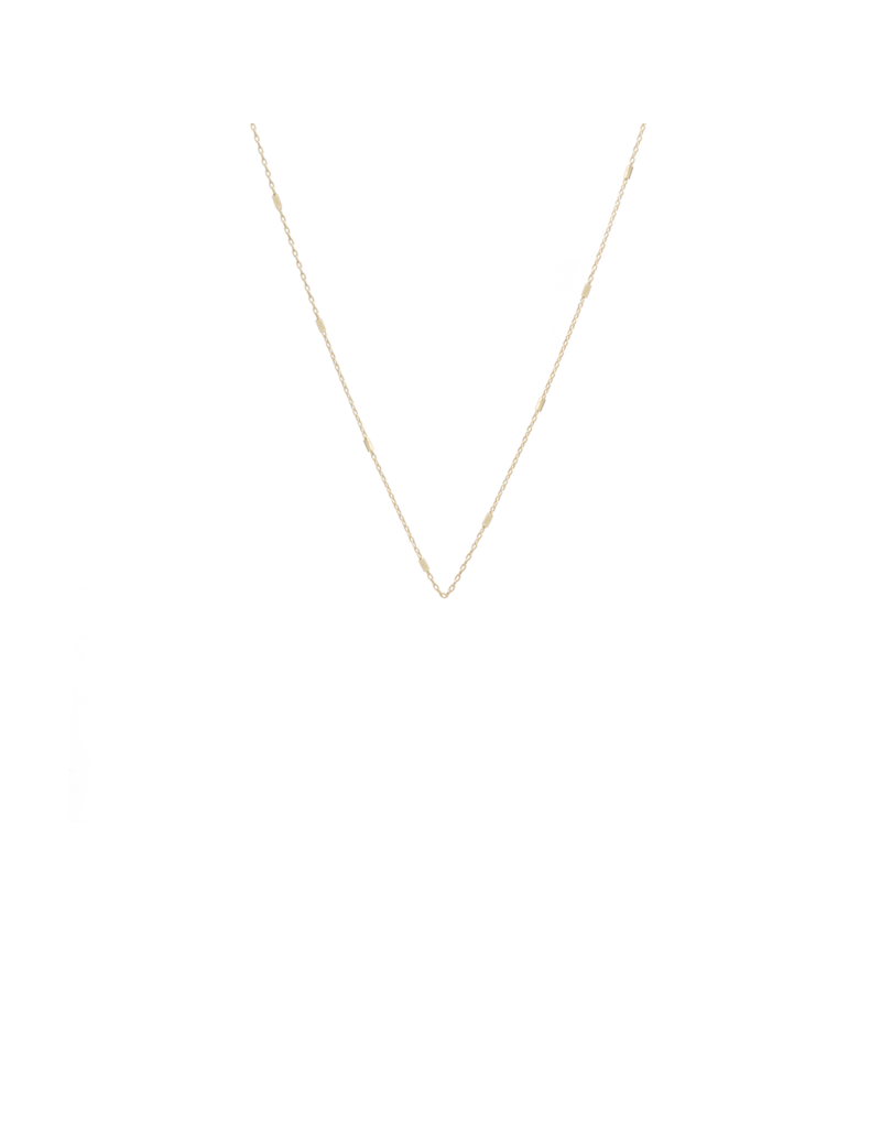 """Tiny Bar Cable Chain Necklace, 18"""""""