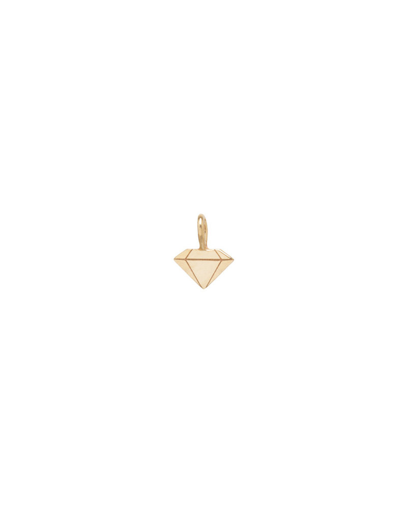 Zoe Chicco Faceted Diamond Pendant