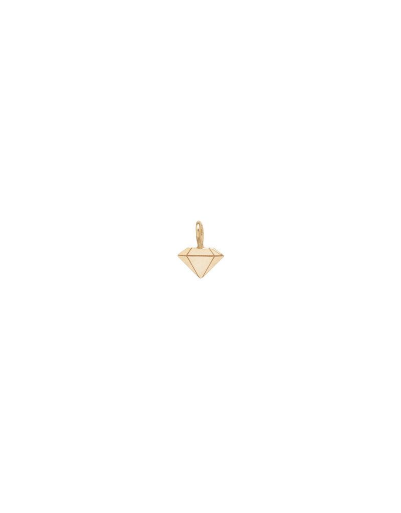 Faceted Diamond Pendant