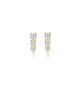 J.Luu 3 Diamond Single Stud