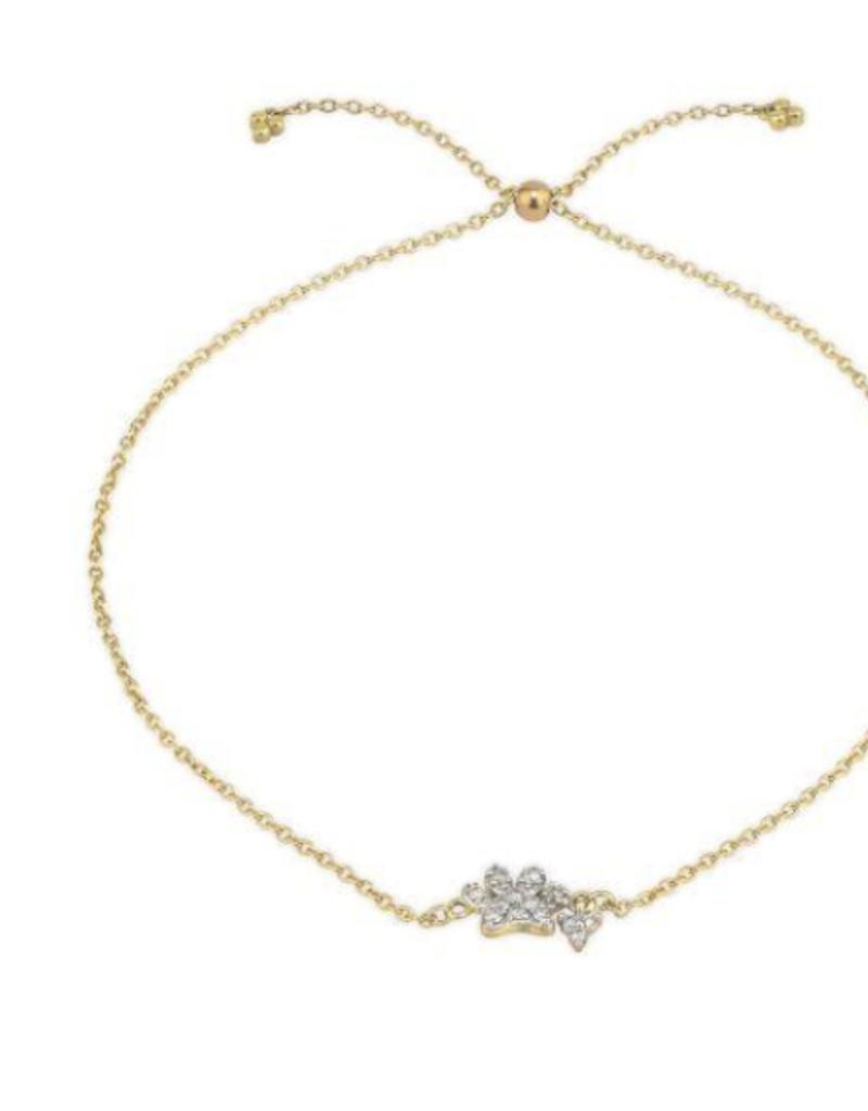 Jude Frances Petite Diamond Pave Paw Chain Bracelet