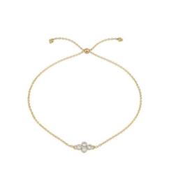 Jude Frances Petite Diamond Quad Quad Chain Bracelet Yellow Gold