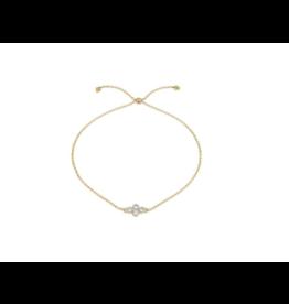 Petite Diamond Quad Quad Chain Bracelet Yellow Gold