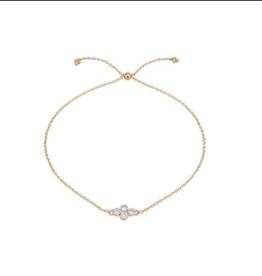 Jude Frances Petite Diamond Quad Quad Chain Bracelet Rose Gold