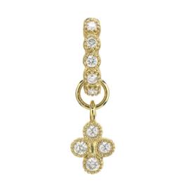 Jude Frances Petite Diamond Quad Charm Yellow Gold